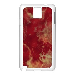 Marble Red Yellow Background Samsung Galaxy Note 3 N9005 Case (white) by HermanTelo