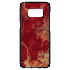 Marble Red Yellow Background Samsung Galaxy S8 Black Seamless Case