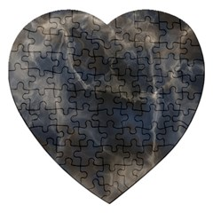 Marble Surface Texture Stone Jigsaw Puzzle (heart) by HermanTelo