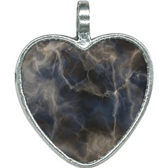 Marble Surface Texture Stone Heart Necklace by HermanTelo