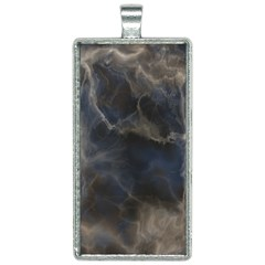 Marble Surface Texture Stone Rectangle Necklace by HermanTelo