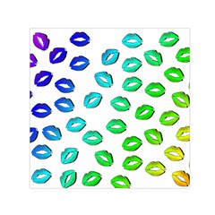 Kiss Mouth Lips Colors Small Satin Scarf (square)