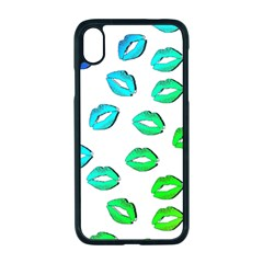 Kiss Mouth Lips Colors Iphone Xr Seamless Case (black)