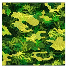Marijuana Camouflage Cannabis Drug Large Satin Scarf (square) by HermanTelo