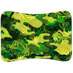 Marijuana Camouflage Cannabis Drug Velour Seat Head Rest Cushion