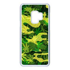 Marijuana Camouflage Cannabis Drug Samsung Galaxy S9 Seamless Case(white)