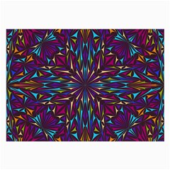 Kaleidoscope Triangle Curved Large Glasses Cloth by HermanTelo