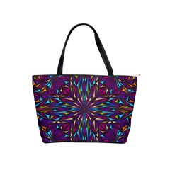 Kaleidoscope Triangle Curved Classic Shoulder Handbag by HermanTelo