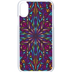 Kaleidoscope Triangle Curved Iphone X Seamless Case (white)