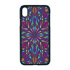 Kaleidoscope Triangle Curved Iphone Xr Seamless Case (black)