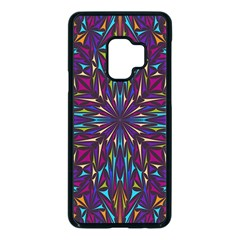 Kaleidoscope Triangle Curved Samsung Galaxy S9 Seamless Case(black) by HermanTelo