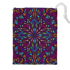 Kaleidoscope Triangle Curved Drawstring Pouch (xxxl) by HermanTelo