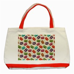 Macaron Bread Classic Tote Bag (red) by HermanTelo