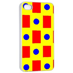 Pattern Circle Plaid Iphone 4/4s Seamless Case (white)