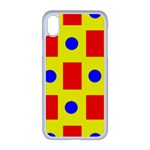 Pattern Circle Plaid iPhone XR Seamless Case (White) Front