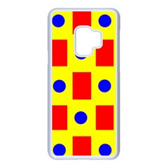 Pattern Circle Plaid Samsung Galaxy S9 Seamless Case(white)