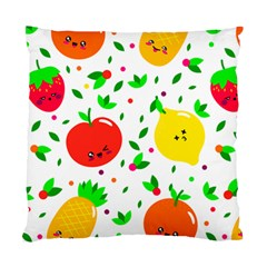 Pattern Fruits Orange Green Standard Cushion Case (two Sides)