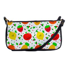 Pattern Fruits Orange Green Shoulder Clutch Bag