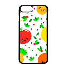 Pattern Fruits Orange Green Iphone 8 Plus Seamless Case (black)