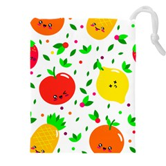 Pattern Fruits Orange Green Drawstring Pouch (xxxl)