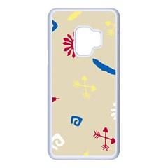 Pattern Culture Tribe American Samsung Galaxy S9 Seamless Case(white)