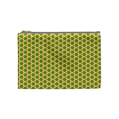Pattern Halloween Pumpkin Color Green Cosmetic Bag (medium)