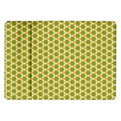 Pattern Halloween Pumpkin Color Green Samsung Galaxy Tab 10 1  P7500 Flip Case by HermanTelo
