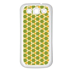 Pattern Halloween Pumpkin Color Green Samsung Galaxy S3 Back Case (white)