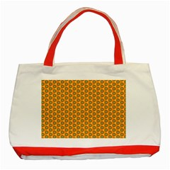 Pattern Halloween Pumpkin Color Leaf Classic Tote Bag (red) by HermanTelo