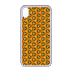 Pattern Halloween Pumpkin Color Leaf Iphone Xr Seamless Case (white)