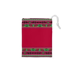 Ornaments Mexico Cheerful Drawstring Pouch (xs)