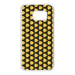 Pattern Halloween Pumpkin Color Yellow Samsung Galaxy S7 White Seamless Case by HermanTelo