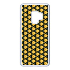 Pattern Halloween Pumpkin Color Yellow Samsung Galaxy S9 Seamless Case(white)