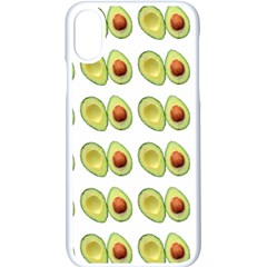 Pattern Avocado Green Fruit Iphone X Seamless Case (white)