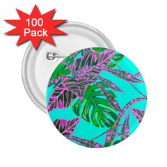 Painting Oil Leaves Nature Reason 2 25  Buttons (100 Pack)  by HermanTelo