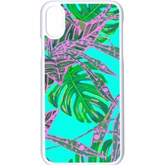 Painting Oil Leaves Nature Reason Iphone X Seamless Case (white)