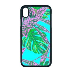 Painting Oil Leaves Nature Reason Iphone Xr Seamless Case (black)