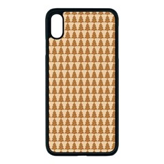Pattern Gingerbread Brown Tree Iphone Xs Max Seamless Case (black)