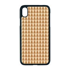 Pattern Gingerbread Brown Tree Iphone Xr Seamless Case (black)