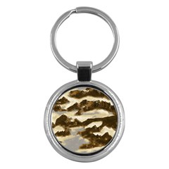 Mountains Ocean Clouds Key Chain (round) by HermanTelo