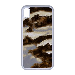 Mountains Ocean Clouds Iphone Xr Seamless Case (white)