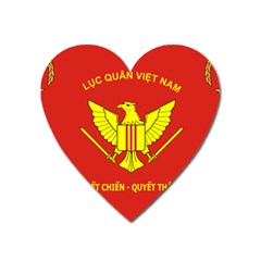 Flag Of Army Of Republic Of Vietnam Heart Magnet by abbeyz71