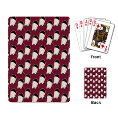 Beanie Boy Pattern Red Playing Cards Single Design