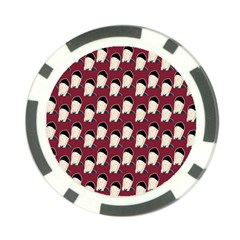 Beanie Boy Pattern Red Poker Chip Card Guard by snowwhitegirl