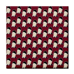 Beanie Boy Pattern Red Face Towel