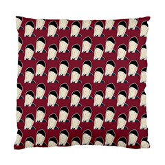 Beanie Boy Pattern Red Standard Cushion Case (two Sides) by snowwhitegirl