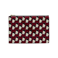 Beanie Boy Pattern Red Cosmetic Bag (medium) by snowwhitegirl