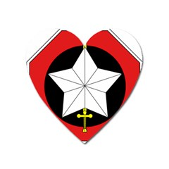 Capital Military Zone Unit Of Army Of Republic Of Vietnam Insignia Heart Magnet by abbeyz71
