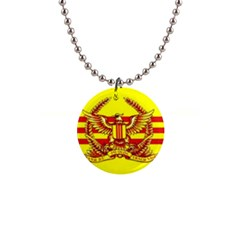 War Flag Of South Vietnam 1  Button Necklace by abbeyz71