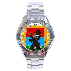 Coat Of Arms Of Russian Republic Of Karelia Stainless Steel Analogue Watch by abbeyz71
